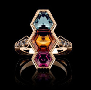 gemstone ring by world luxury jeweller Joke Quick
