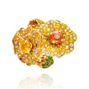 flower ring by Parisian jeweller Marc Alexandre