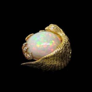 opal ring by jewellery designer Marc Alexandre