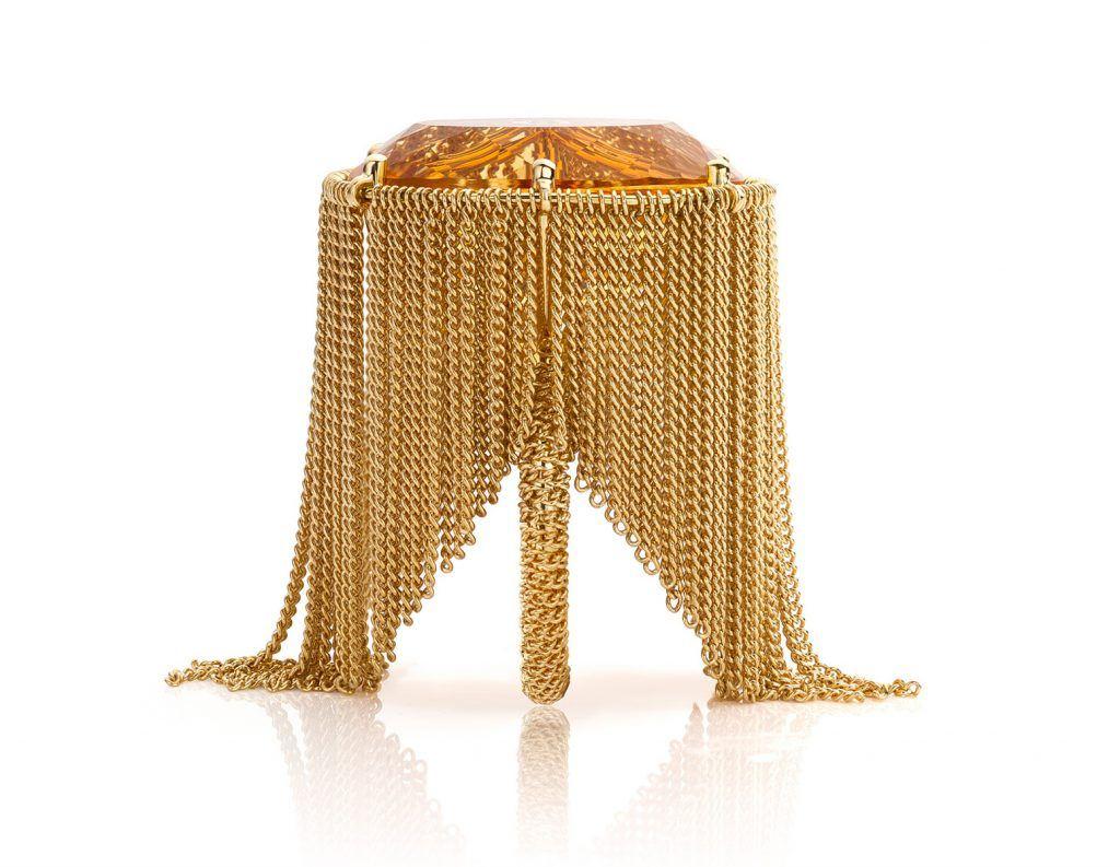 citrine ring by Dutch jeweller Hester Vonk Noordegraaf