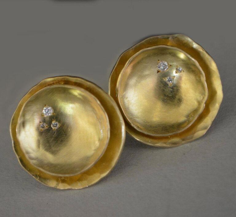 diamond earrings by jewellery designer Tineke Rigole