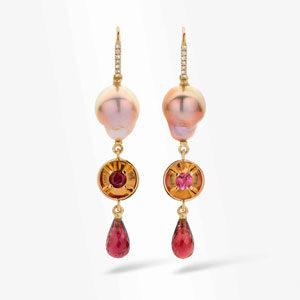 earrings by jewellery designer Tineke RigoleMarie-Bénédicte Jewellery design