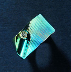 ring with diamond by jewellery designer Thierry Bontridder