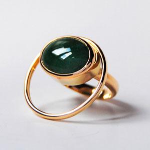 coloured gemstone ring by jewellery designer Gerhild Kirchner