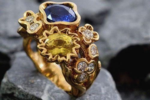 gemstone ring by world luxury jeweller Benoit Noury